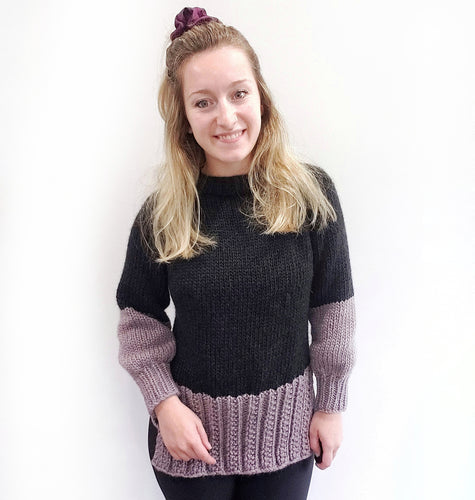 Lavender Dip Sweater - KNITTING PATTERN