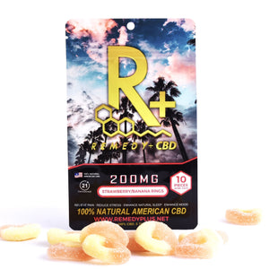 RemedyPlusCBD Edibles Pain Relief Relaxing Gummy Rings 200mg