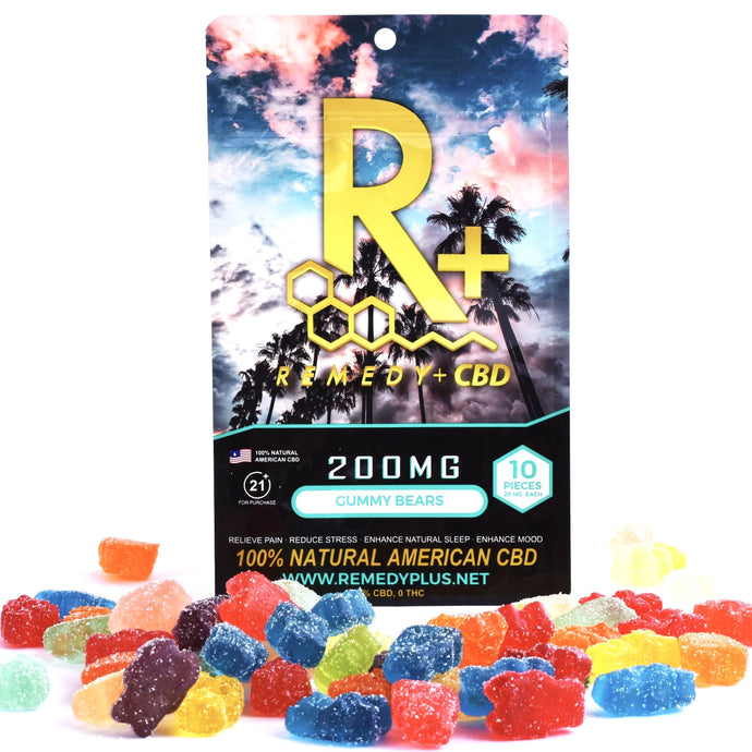 RemedyPlus CBD Edibles Pain Relief Relaxing Gummy Bears 200mg