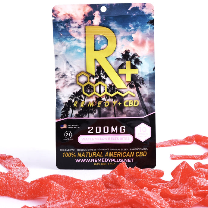 RemedyPlus CBD Pain Relief Relaxing Edibles Watermelon Belt Bites 200mg
