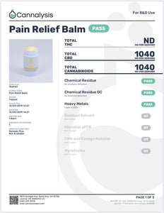 Remedy Plus Pain Relief Balm 1000 mg