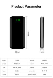 REF Power Lightweight, Slim Portable Battery Charger w/ LCD Digital Display Spec Sheet