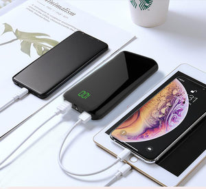 REF Power Lightweight, Slim Portable Battery Charger w/ LCD Digital Display Dual Output Charging