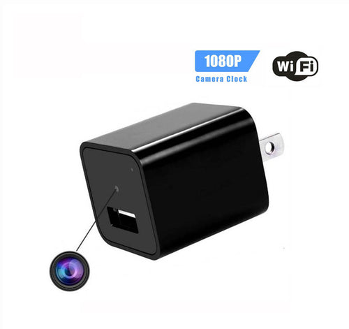Nanny Cam Wireless Home Surveillance USB Wall Charger side view