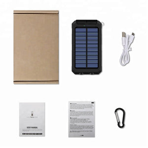 Original REF Solar Cell Phone Charger and Water-Resistant Power Bank kit