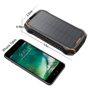 REF Power - 'The Hardcore' Wireless Solar Power Portable Charger Specs- REF Outlet