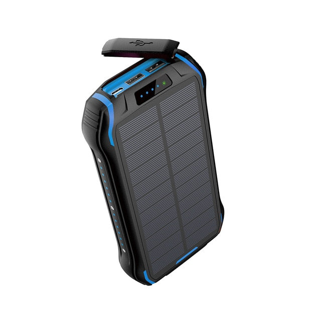 REF Power - 'The Hardcore' Wireless Solar Power Portable Charger blue- REF Outlet