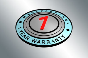 Manufacturer Warranty Extended to 1-Year!