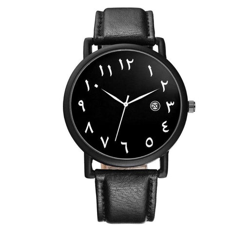 Black Arabic Geneva Leather