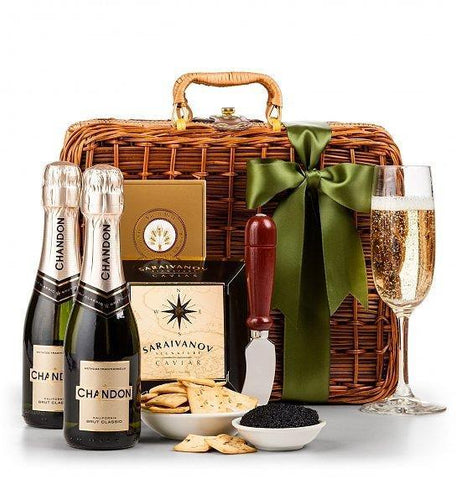 Bulgaria Gifts Gift Baskets Champagne and Caviar Luxury Basket
