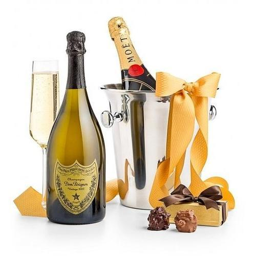 Gift Baskets - Champagne And Chocolates For Two Luxe