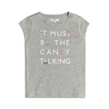 Tricou gri Candy Talking, 4-5ani