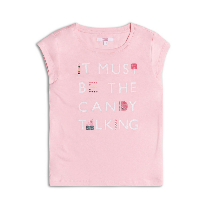 Tricou roz Candy Talking, 6-7ani