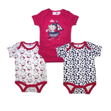 Set din 3 body-uri cu maneca scurta, Little Kitty, 0-3luni