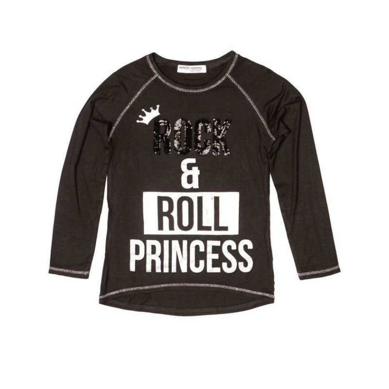 Bluza neagra, Rock Roll Princess, 7-8ani