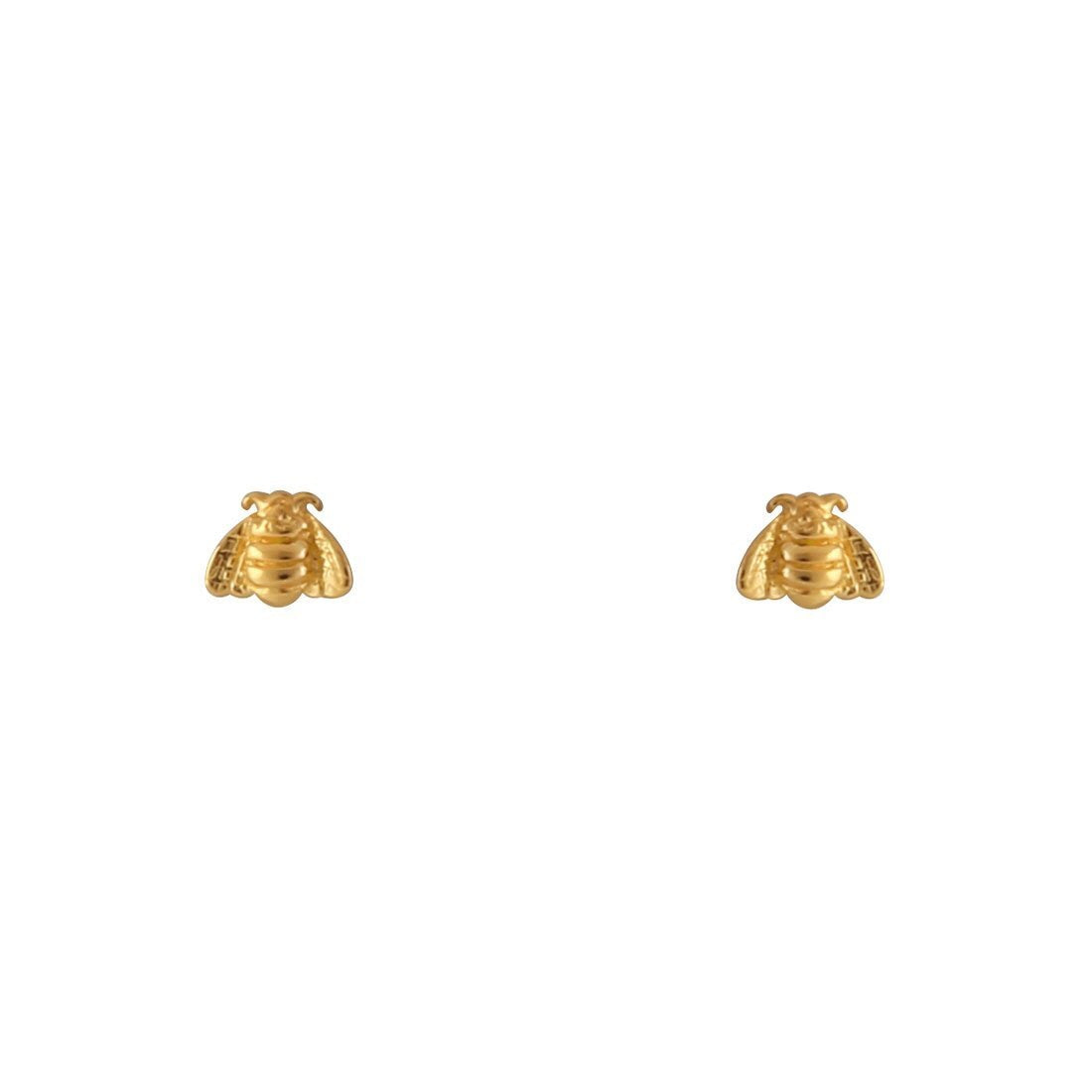 Gold Tiny Bee Studs