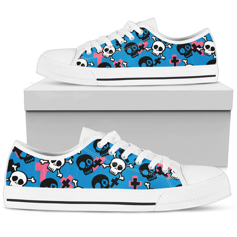 Skull And Cross Bones Women`s Low Top Shoe
