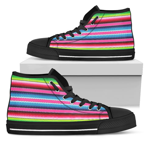 Blanket Stripe Womens High Top Shoes