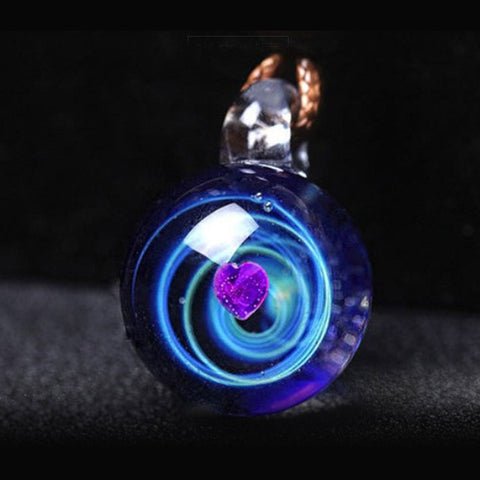 Have The Universe and Glass Bead Planets On A Pendant Necklace