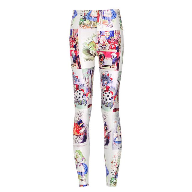 Alice In Wonderland With The Cheshire Cat Leggings