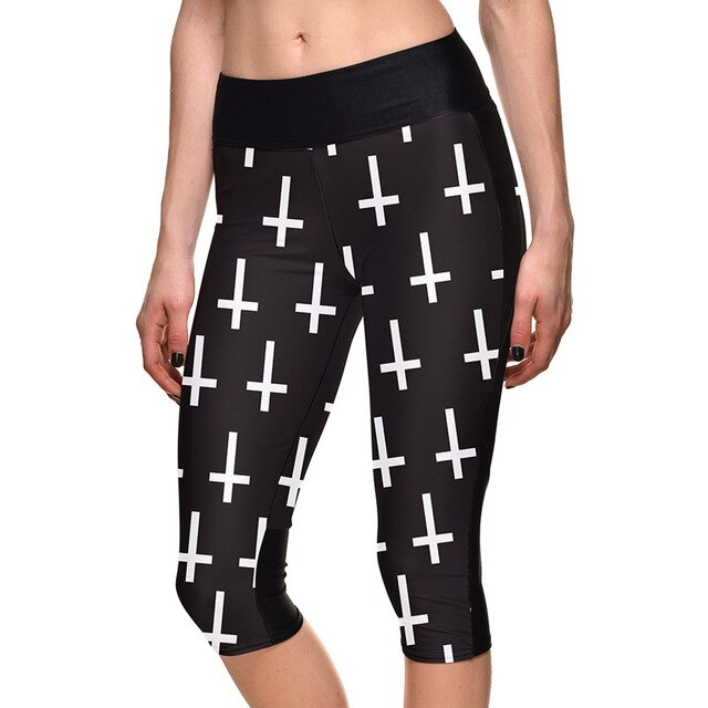 Skeleton Cross Fitness Capris