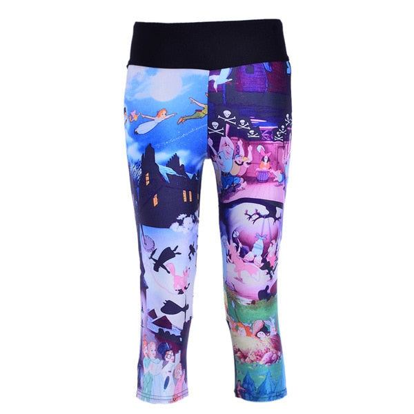 Gorgeous Capris Leggings With Watercolor Print