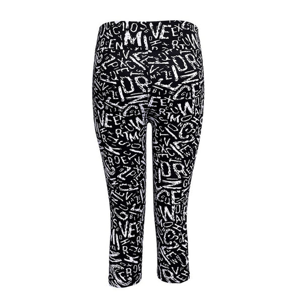 TOIVOTUKSIA Legging Women Print Summer Style Black Pants Capris Women Leggins Female Pants Thin and Soft Mid Calf Legging
