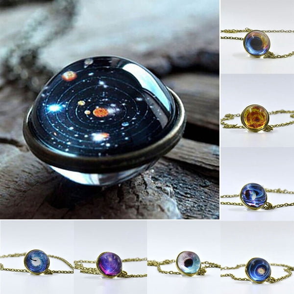 A Unique Universe Pendant Necklace Of The Cosmic Galaxy