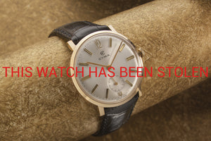 CYMA gents dress watch solid gold Dennison case