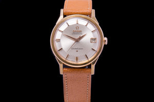 Omega 18K rose gold Omega Constellation Chronometer 'Dog Leg'