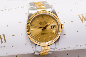 Rolex Gents Datejust ref 16233 18ct gold and stainless steel