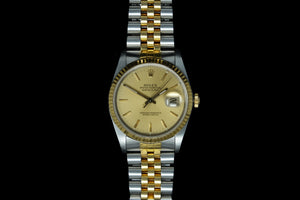 Rolex Gents Datejust ref 16233 18ct gold and stainless steel -SOLD
