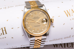 Rolex Gents Datejust ref 16233 with Diamond hour markers