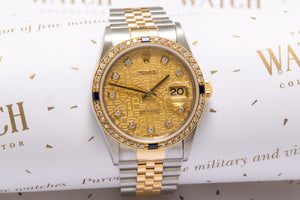 Rolex Gents date just ref 16233 With Diamond Dial and Bezel SOLD