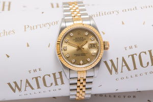 Rolex Ladies datejust ref 69173 Diamond Dial With Papers SOLD