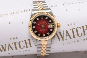 Rolex Ladies datejust with  diamond dial SOLD