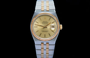Rolex Oyster Quartz rare 18ct Rose gold and stainless steel