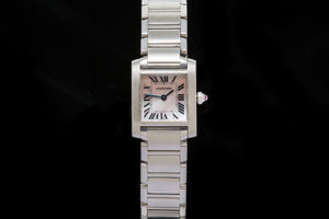 Cartier Ladies Tank Francaise with Mother of Pearl dial SOLD