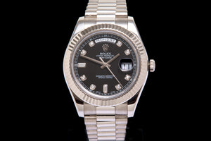 Rolex Day Date 11 18ct White Gold with diamond dial