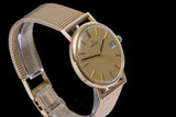 Omega 9 ct gold gents dress watch.