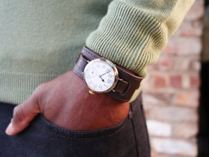 Trench Watch with solid silver hinged case