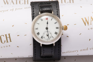 Trench Watch solid silver Borgel case