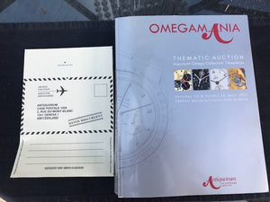Omega Mania Auction Catalog With Rare Bid Envelope
