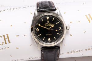 Rolex  1002 Explorer with original Box and STS Service doc SOLD