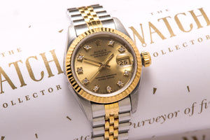 Rolex Ladies Date just 18 ct gold and steel - SOLD