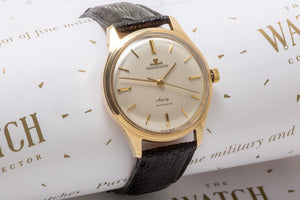 Jaeger Le coultre by Asprey 9ct gold SOLD