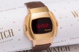 Pulsar P3 LED 14K gold 'James Bond' New Old Stock