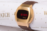 Pulsar P3 LED 14K gold 'James Bond' New Old Stock - SOLD