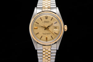 Rolex Oyster Perpetual date just 18ct gold and stainless steel