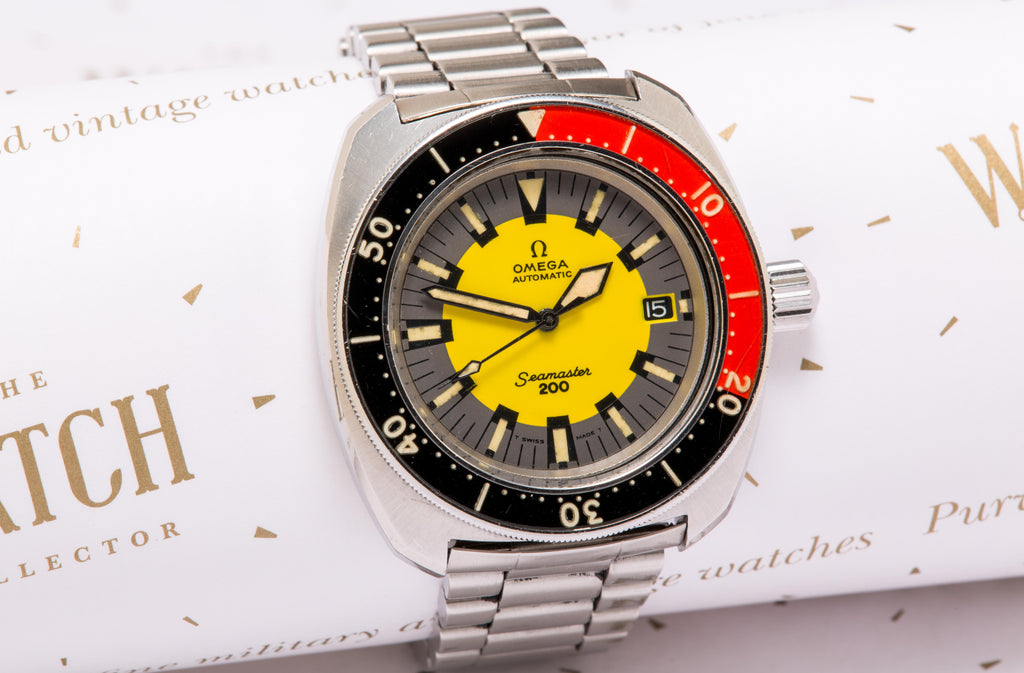 Omega Seamaster 200 'Banana' SOLD – The Watch Collector